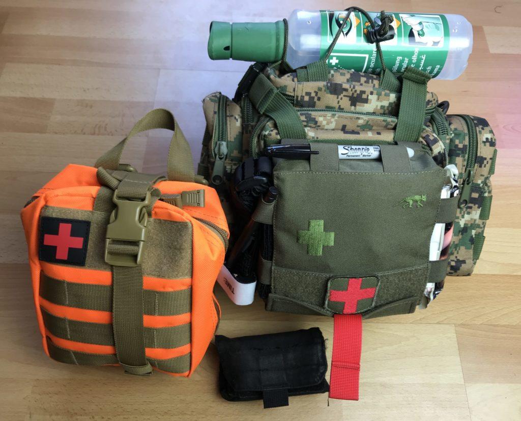 Erste Hilfe Ausrüstung vom Prepper für den Notfall