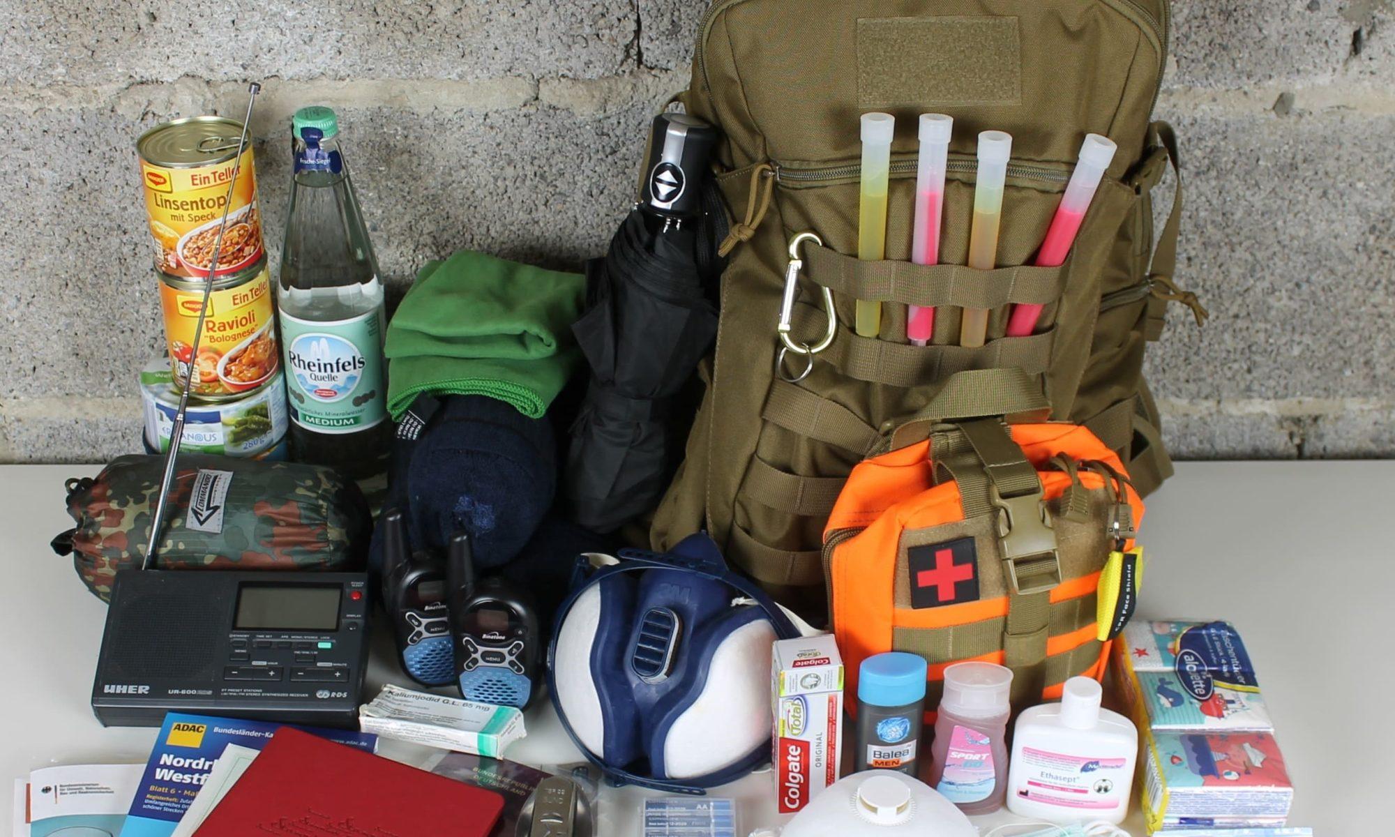 Fluchtrucksack Packliste